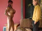 Ebony Bodybuilder Milf Gives Her Best To Fascinate White Guy
