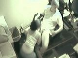 Boss fucks secretary caught on cam