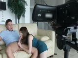 Stunning Brunette And Her Boyfriend Making A Sex Tape