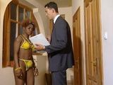 Attractive Ebony Girl Invite Her Colleague From Work And Others To Have Some Fun Time In Her House
