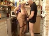 Fat Old Granny Fuck Young Stud Like She Has 19Yo
