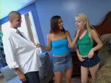 Naughty Teens Lexi Belle and Penny Flame Fucks Their College Classmate
