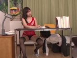 Teachers Flashing Pussy Under Table Made Horny Boy To Go All Or Nothing