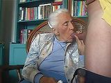 Really Old Greyhead Granny Sucks Young Cock