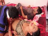 Cheating Indian Wife Making Fool Of Poor Sleeping Hubby