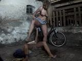 Village Whore Fucked Rough In Both Holes In The Barn