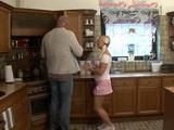 Daddy Fucks Daughters Teen Girlfriend In Kitchen