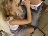 Teen Step Sister Fucks Her Brother In the Kitchen