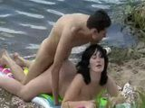 Voyeur Taped Amateur Couple Fucking On The Lake Beach