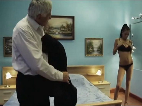 Old Grandpa Fuck Young Pussy For Money In Hotel Room