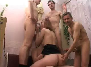 Daddy and Friends Enjoy Good Sex With Not His Daughter