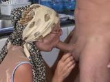 German Granny Maid Fucked In Kitchen By Young Master