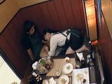 Busty Waitress Giving Full Service To A Restaurant Guest
