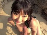 Busty Megumi Haruka Sucking A Stranger In A Hidden Part Of The Beach