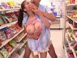 Busty Newbie Salesgirl Ruri Saijo Gets Fucked By Chef Salesman at the Store