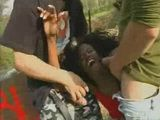Screaming Black Girl Gets  Anal Fucked at Picnic