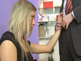 Mouthwatering Boss Blackmail Teen Intern To Play With His Cock In Order To Keep A Job