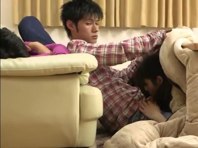 While My Best Friend Is Sleeping His Gf Is Very Naughty In a Kotatsu