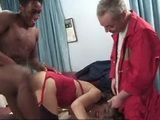 Mix of Huge Black Cock and White Small One Is A Recipe For Mind Blowing Orgasm For Hairy Pussy Woman