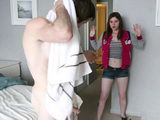 Boy Came To Friends Place To Take A Quick Shower When His Teen Sister Walked In
