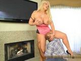 Blonde MILF With Big Natural Tits Gets Interrupted While Masturbating By Repairman