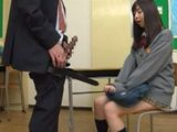 Nasty Schoolgirl Earn Some Extra Credit After Classes From Perverted Teacher