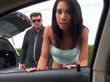Young Teen Slut Trades Ass For Gas