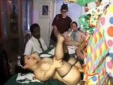 Midget Stepsister Sucking Clowns Cock And Gets Fucked On Big Baby Stepbrothes Birthday Party