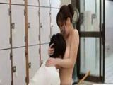 Busty Japanese sultress Harumi Asano has tits suckled