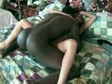 Amateur Asian Girl Strugles Hard To Handle This Black Monster Cock
