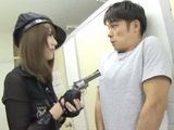 Hot Policewoman Arresting Robbers Not For Jail But For Her Pleasure  Yui Hatano