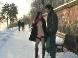 Exhibitionist Couple Ignoring The Environment