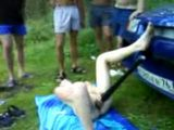 Wasted Drunk Girl Makes Fool Of Her Self Infront Of Everybody On Picnic