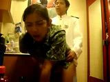Asian Hotel Maid Fucked By Receptionist In A Wardrobe During Working Hours