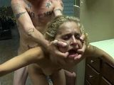 Extra Small Teen Slut Used And Abused In A Rest Room