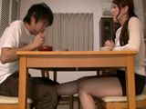 Bored Step Mother Yui Hatano CFNM Footjob For Her Teen Step Son