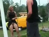 Teen Blonde Fuck Her Friend In Park