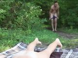 Suntanning Naked Outdoor Trigger Sudden Anal Quickie By Stranger