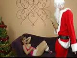 Drunk Santa Brings His Penis As A Gift To Naughty Girl