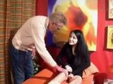 Old German Father Busted His Teen Daughter Masturbating