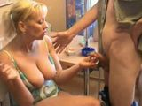 Mother and Daughter Blowjob For Young Fellow
