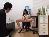 Horny Office Slut Decided To Mastrubate Regardless Her Colleauge Is Watching