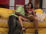 Ebony Stepsister Heard How Huge Cock Her Stepbrother Has So She Must Try It