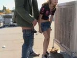 Neighbors Daughter Gets Some Fuck Lessons On The Roof