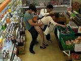 Lady Gets Suddenly Attacked and Fucked In the Store By Stranger and His Friend Salesman