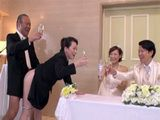 Brides Mom And Grooms Dad Banging In Front Of Newlyweds On Traditional Wedding Ceremony