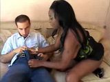 Busty Ebony Mama Fucks Nerd White Boy
