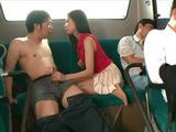 Milf Miyuki Yokoyama Fucks With A Stranger In A Crowded Bus While Her Husband Is Sleeping