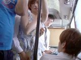 Sweet Asian Girl Groping In The Middle Of The Bus By Two Maniacs