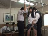 Demonstration Of Crowd In Public Bus Boys Show To Classmate What May Happen To Her In Public Transportation